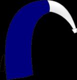 Blue hearing aid