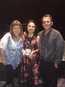 Sign Shares staff at awards (l-r): Christina Goebel, Eva Storey, and Anthony Butkovich