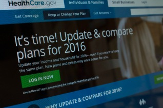 "HealthCare.gov Stock imagery says to ""Update & compare plans for 2016."""
