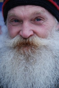 Picture of man who resembles Santa Clause.