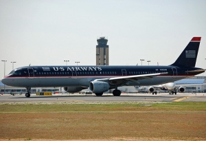 Picture of US Airways jet on airport runway