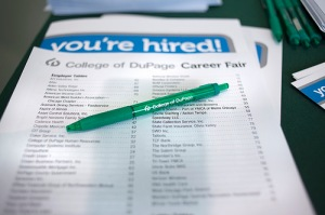 Paper with checklist says You're Hired!