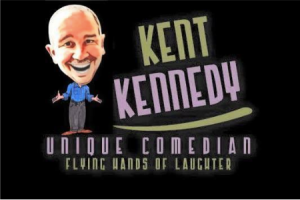 Kent Kennedy log, saying he is a unique comedian and Flying Hands of Laughter