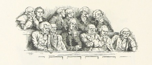 Cartoon of a jury from Revolutionary period.