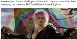 david bowie rainbow with a rainbow