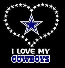 I love my Cowboys with Dallas Cowboys blue star.