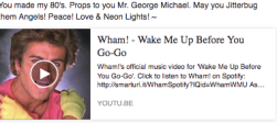 george michael link to video Wham! Wake Me Up Before You Go-Go