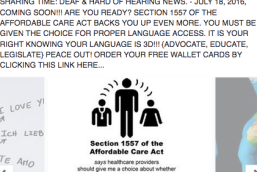 Section 1557 of the Affordable Care Act. You have the right to request your choice of accommodation with your health care provider.