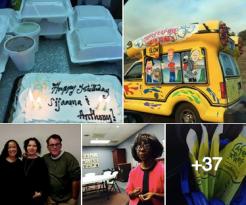 Sign Shares' pictures show Happy Birthday, Sijaama, Bettye, Eva, and Anthony.