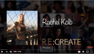 Rachel Kolb at RE:CREATE TEDx